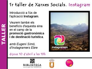 Taller gratuït de xarxes socials: Instagram - biblioteca de Gandesa